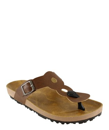 Brown Cutout Sandal