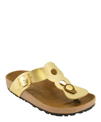 Gold Cutout Sandal