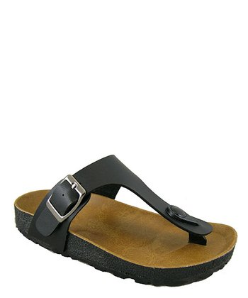 Black Walking Sandal