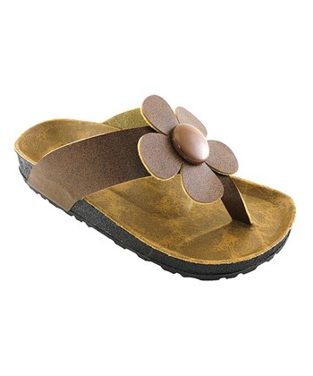 Brown Daisy Sandal