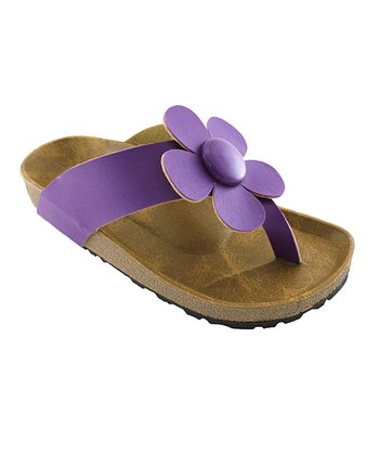 Purple Daisy Sandal