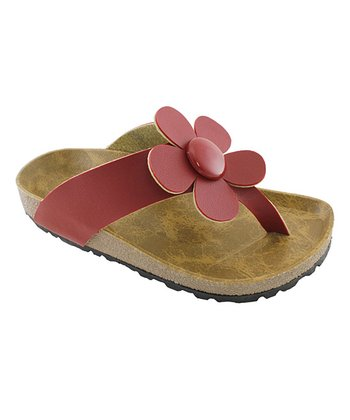 Red Daisy Sandal