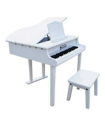 White 37-Key Concert Grand Piano