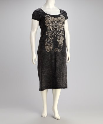 Black Royalty  Dress - Plus