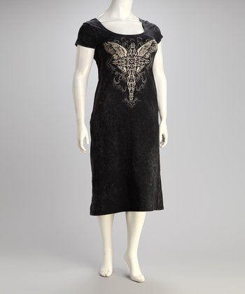 Black Winged Cross Dress - Plus