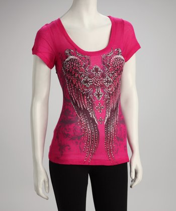 Hot Pink Angel Top - Women