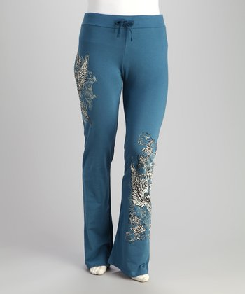 Vintage Blue Angel Plus-Size Lounge Pants