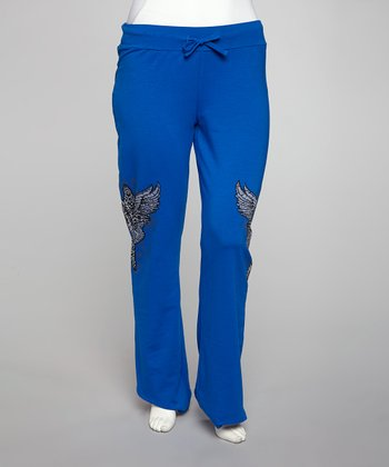 Blue Winged Cross Lounge Pants - Plus