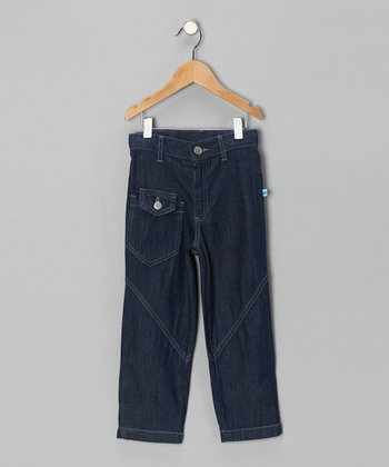 Midnight Wash Organic Baggy Jeans - Infant, Toddler & Kids