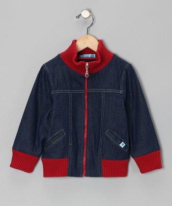 Red & Midnight Wash Organic Jacket - Toddler & Kids