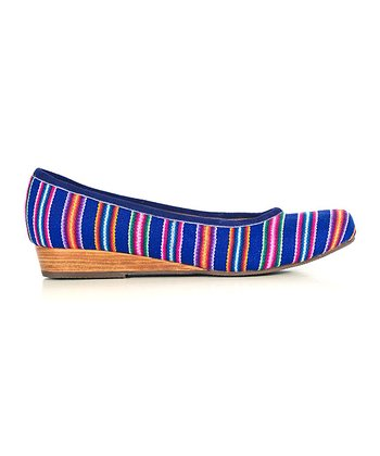 Purple Stripe Wedge - Women