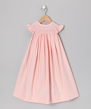 Light Pink Angel-Sleeve Dress - Toddler