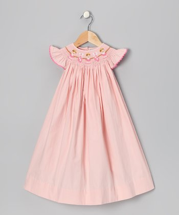 Light Pink Ballet Angel-Sleeve Dress - Infant & Toddler