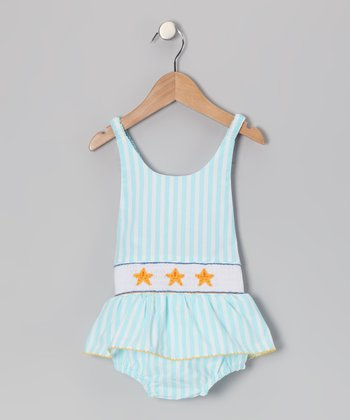 Aqua Starfish One-Piece Sunsuit - Infant, Toddler & Girls