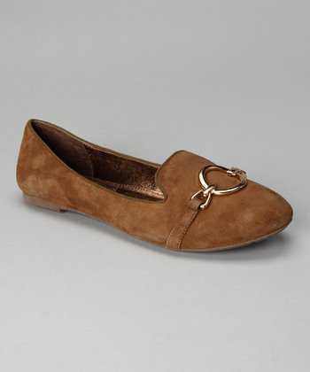 Tan Suede Aries Loafer