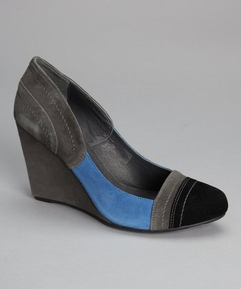Gray Suede Heely Wedge