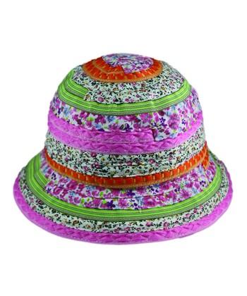 Pink & Green Floral Sunhat