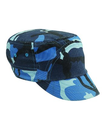 Blue Camo Newsboy Hat
