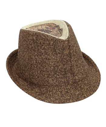 Brown Skull Fedora
