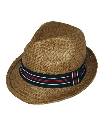 Dark Brown Stripe Fedora