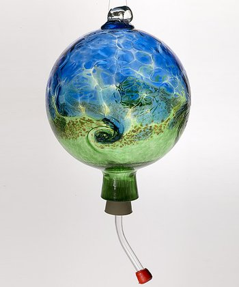 Blue & Green Van Glow Hummingbird Feeder