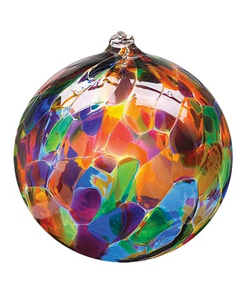 Festive 6'' Calico Ball Ornament