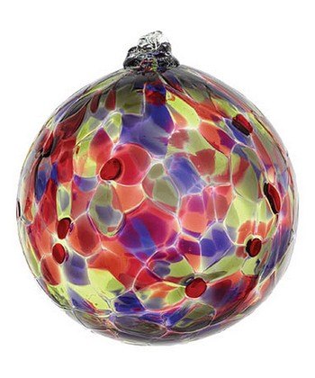 Wild Plum 6'' Calico Ball Ornament