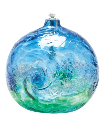 Blue & Green Van Glow Kitras Oil Lamp