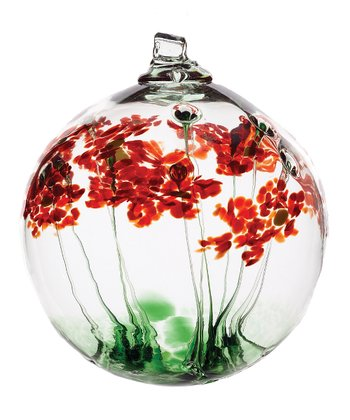 Red 6'' Greetings Kitras Blossom Ball