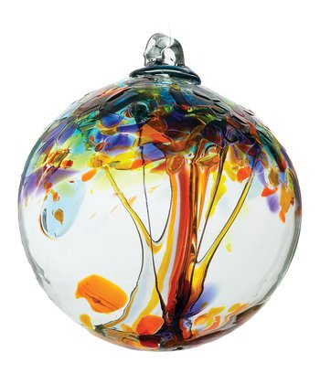 Yellow 6'' Kitras Tree of Happiness Ornament