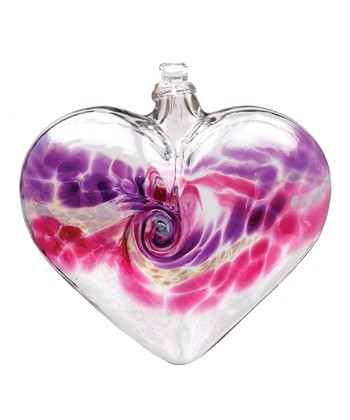 Purple & Pink Van Glow Kitras Blown Heart