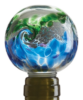 Blue & Green Van Glow Kitras Wine Stopper