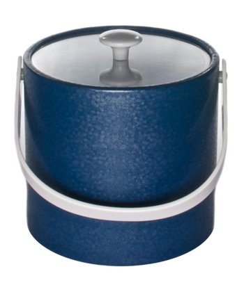 Blue Flakes Ice Bucket