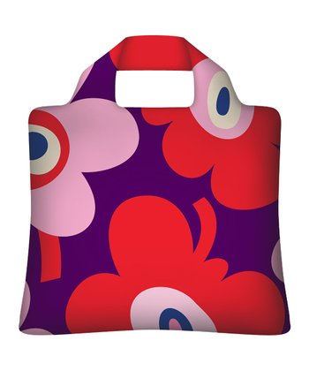 Bold Flower Reusable Shopping Bag - Set of Two