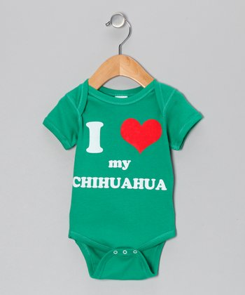 Kelly Green 'I Heart My Chihuahua' Bodysuit - Infant