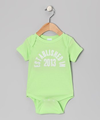 Key Lime 'Established in 2013' Bodysuit - Infant