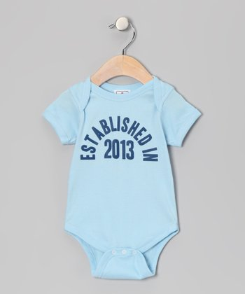 Light Blue 'Established in 2013' Bodysuit - Infant