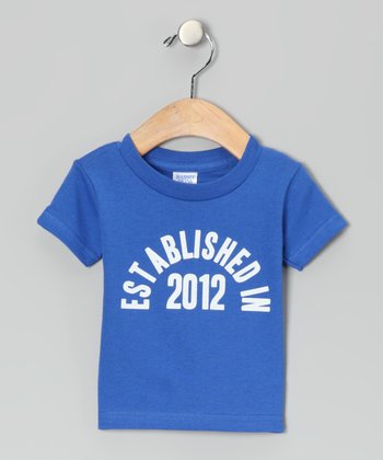 Royal Blue 'Established in 2012' Tee - Infant & Toddler
