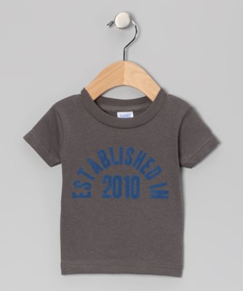 Charcoal 'Established in 2010' Tee - Toddler