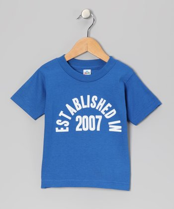 Royal Blue 'Established in 2007' Tee - Kids