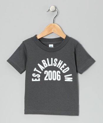 Charcoal 'Established in 2006' Tee - Kids