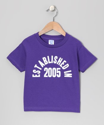 Purple 'Established in 2005' Tee - Kids