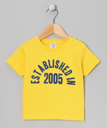 Yellow 'Established in 2005' Tee - Boys