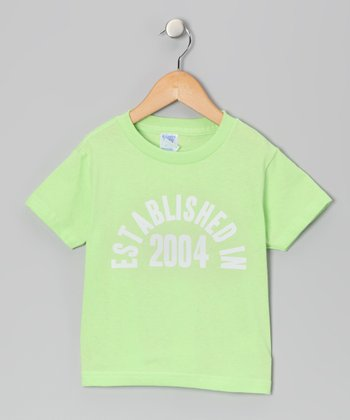 Key Lime 'Established in 2004' Tee - Kids