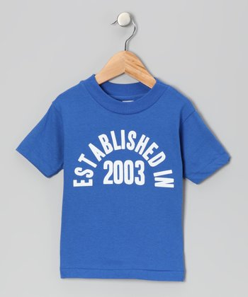 Royal Blue 'Established in 2003' Tee - Kids