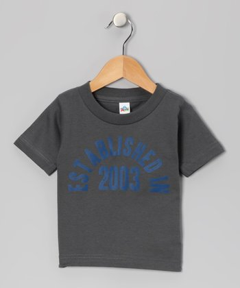 Charcoal 'Established in 2003' Tee - Boys