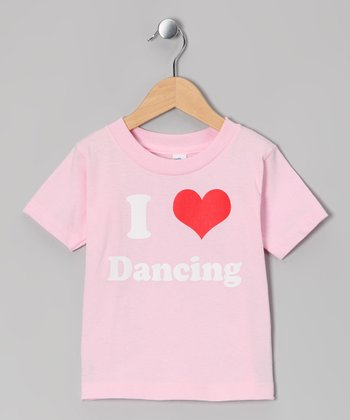 Light Pink 'I Love Dancing' Tee - Toddler & Kids