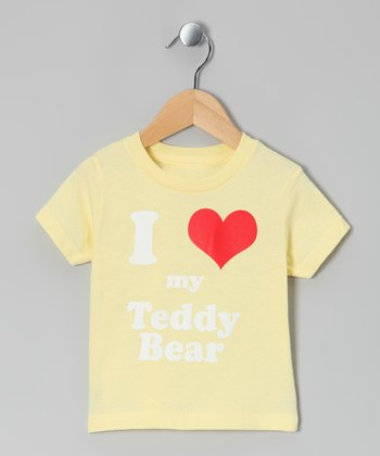 Banana 'I Love My Teddy Bear' Tee - Toddler & Kids