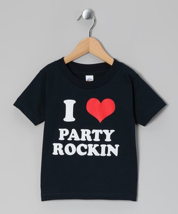 Navy 'I Love Party Rockin' Tee - Toddler & Kids