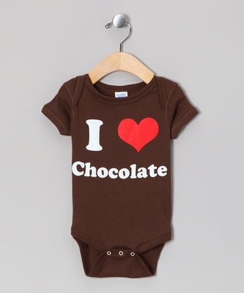 Brown 'I Love Chocolate' Bodysuit